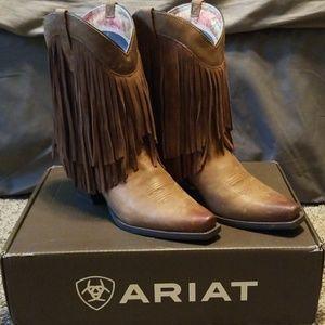 Ariat fringe gold rush boots